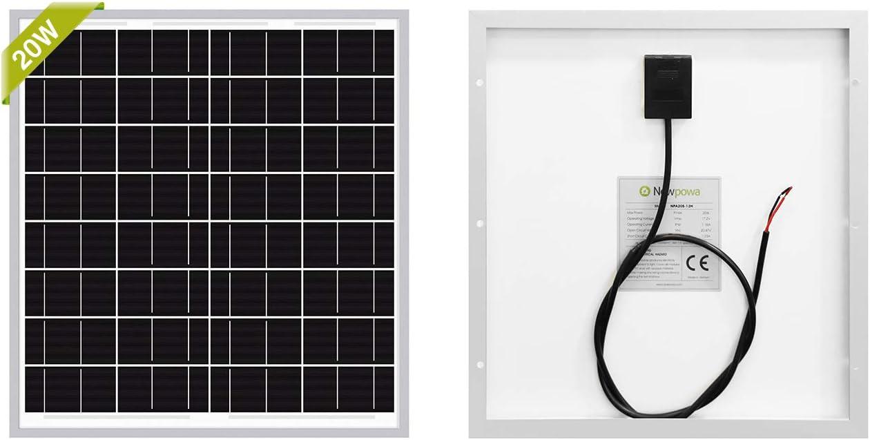 Newpowa New Shipping Free 20W Year-end annual account Watt Solar Monocrystalline12V High Efficiency Panel