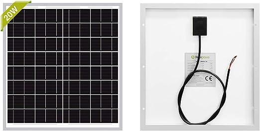 Newpowa 20W Monocrystalline Solar Panel