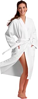 long white cotton robe