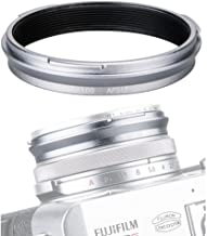 49mm Metal Lens Filter Adapter Ring for Fujifilm Fuji X100V X100F X100T X100S X100 X70 Camera & Wide Conversion Lens WCL-X100 II Installing UV CPL ND Filter Lens Cap Replace Fujifilm AR-X100 Silver