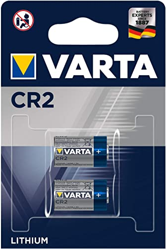 VARTA Batteries Electronics CR2 Lithium button cell 3V battery 2-pack, Button cells in original blister pack of 2