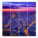 Bilderwelten Panel japonés Cortinas Salon Paris At Night Sin Montaje, 250 x 240cm