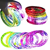 LED blinkendes Armband,20 stücke richaa abnehmbare acryl leuchtende blase armband für party bar...