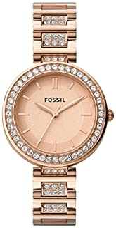 Fossil KARLI THREE-HAND ROSE GOLD-TONE STAINLESS STEEL WATCH BQ3181