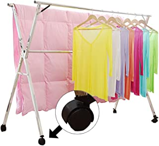 clothes drying rack with wheels