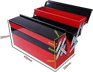 YIN YIN - Caja de almacenamiento de herramientas - caja de almacenamiento de piezas domésticas de metal de tres capas male...