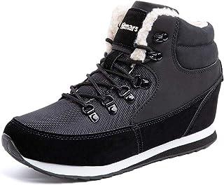 Bottes de Neige Femme Fourees Mode Chaussure Homme Hiver Basse Baskets Bottines Hiver Chaude Doublure Plates Noir Bleu Mar...