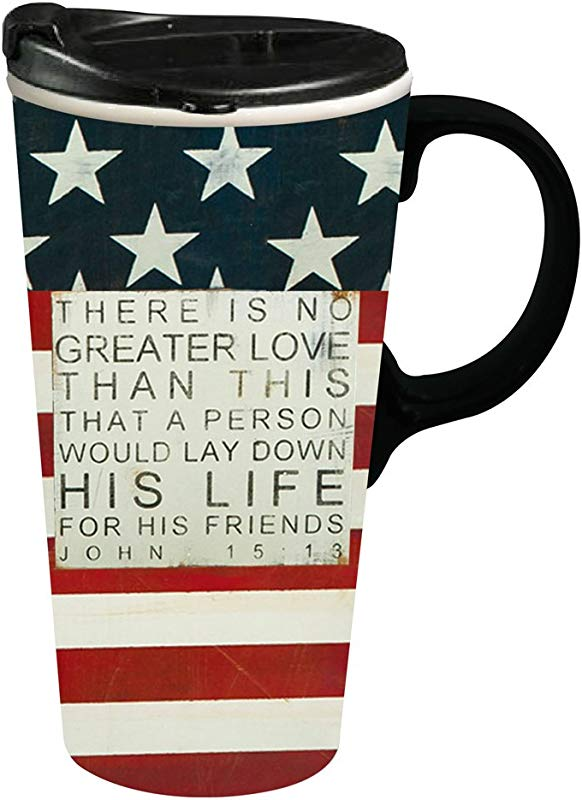No Greater Love 17 OZ Ceramic Perfect Cup 4 X 5 X 7 Inches