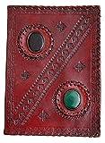 PRASTARA Pure Genuine Real Vintage Hunter Leather Handmadepaper Notebook Diary for Office Gift