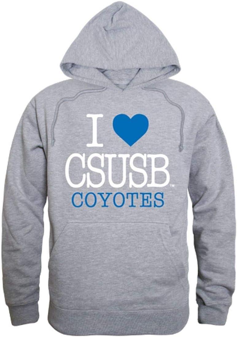 I Love CSUSB California State University San Bernardino Coyotes Hoodie Sweatshirt