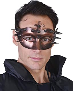 Bronze Ulric Eye Mask With Spikes One Size