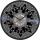 ZZLLL Reloj de Pared con Disco de Vinilo símbolo Celta 12 Pulgadas Arte Colgante de Pared decoración de habitación única Regalo Hecho a Mano