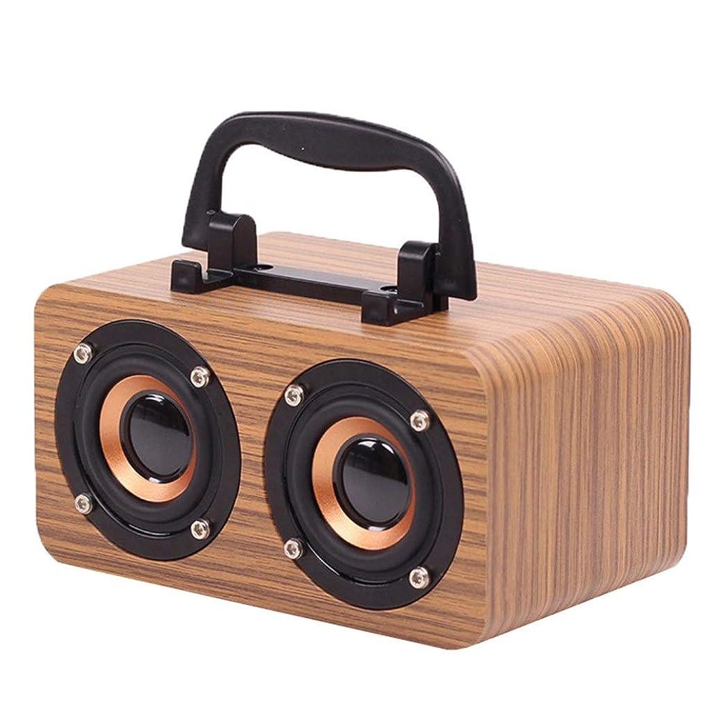 ジュラシックパーク誕生日むしゃむしゃレトロなBluetoothスピーカー FMラジオ付きスーツケースヴィンテージラジオワイヤレスステレオレトロスピーカーブルートゥース付きブルートゥーススピーカーラジオ4.1ウッドラジオ音声プロンプト機能32ギガバイトusb TFカードポート 使い方が簡単 (色 : 褐色)