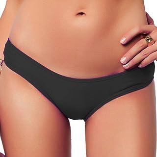 abe5c4a104b Sexy Brazilian Bikini Bottom for Women V Cheeky T-Back Booty Solid Classic Ladies  Swimsuit
