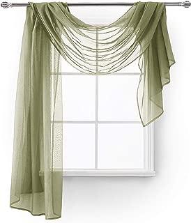 MEMIAS Window Sheer 1 Scarf, 54