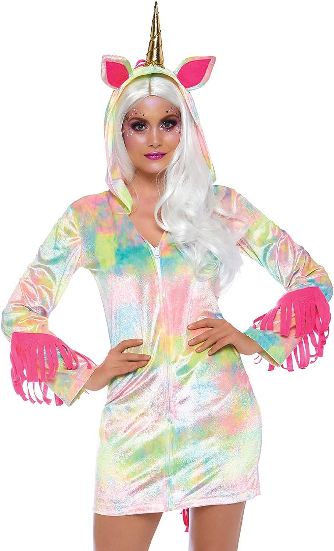 Leg Avenue 8672401101 - Costume di autonevale da Unicorno, con  usura Lampo, da Donna, MultiColoreeee, Taglia S (EUR34-36)