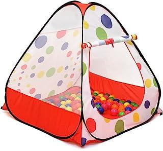 Kiddey - Tienda de campaña con bolas para niños; se arma de inmediato y no requiere montaje; se utiliza como pelotero (no se incluyen las bolas) o como tienda de campaña para interiores/exteriores