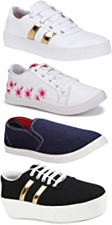 EartonCombo Pack of 4, Casual, Sneakers, Loafers Shoe for Women
