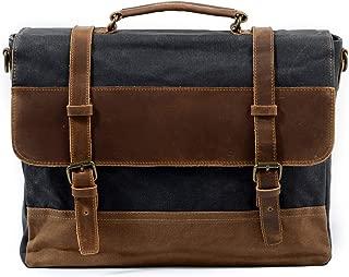 Mens Bag Vintage Canvas Briefcase Crossbody Day Bag for School and Work Men's Messenger Shoulder Bag High capacity