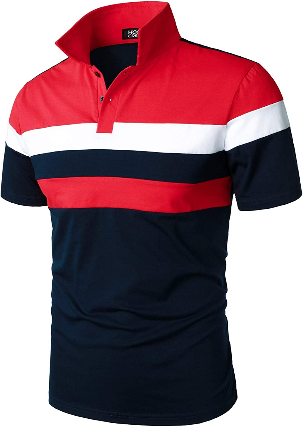 HOOD Very popular! CREW Men's Casual Short Sleeve Polo Quality inspection Co Fit Shirts Slim