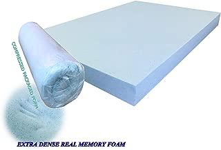 eConsumersUSA Pet Dog Bed Blue Cooling Gel Infused High Density Solid Memory Foam Pad