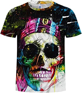 Ackful Men Summer New Full 3D Printed T Shirt Plus Size S-3XL Cool Printing Top Blouse