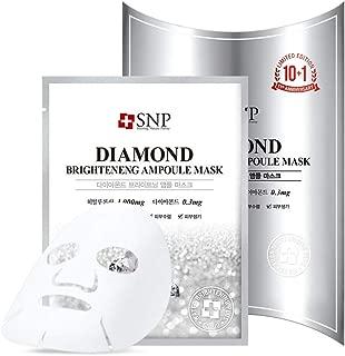 SNP - Diamond Brightening Ampoule Korean Face Sheet Mask - 11 Sheet Pack