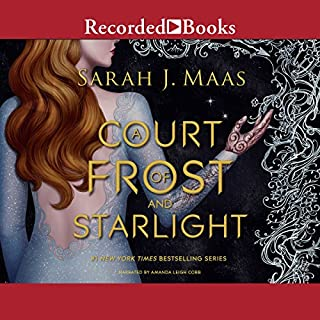 A Court of Frost and Starlight                   By:                                                                                                                                 Sarah J. Maas                               Narrated by:                                                                                                                                 Amanda Leigh Cobb                      Length: 6 hrs and 23 mins     2,329 ratings     Overall 4.3