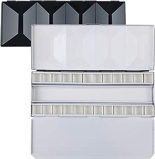 MEEDEN Heavy-Duty Watercolor Palette, Compact Folding Metal Watercolor Palette Box, Travel Friendly Artist Palette Tin Case with 24 Half Pans