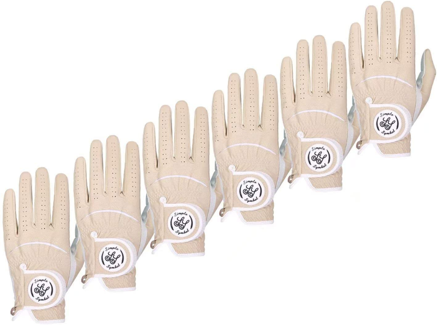 Simple Symbol Long-awaited Men's Golf Glove Grade Manufacturer OFFicial shop Pack, Six Leather High