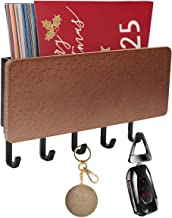 WINCANG Key Holder for Wall with 5 Key Hooks ,Mini 7 Inch Wall Mount Mail Letter and Key Rack Holder Organizer,Key Hook Ha...