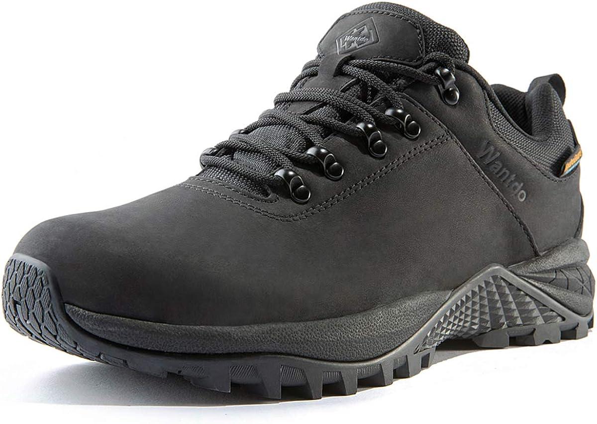 Wantdo Waterproof Mens Hiking Shoes Low Cut Hiking Boots Outdoor Hiking Trekking Backpacking Mountaineering Hydroguard
