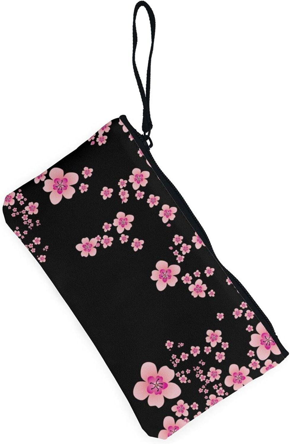 AORRUAM Plum blossom Canvas Coin Purse,Canvas Zipper Pencil Cases,Canvas Change Purse Pouch Mini Wallet Coin Bag