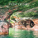 Wisconsin Wild & Scenic 2021 12 x 12 Inch Monthly Square Wall Calendar, USA United States of America Midwest State Nature