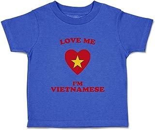 Custom Baby & Toddler T-Shirt Love Me I'm Vietnamese Cotton Boy Girl Clothes