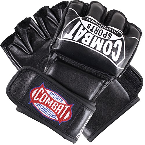 Combat Sports Pro Style Grappling MMA Gloves, Large, Black