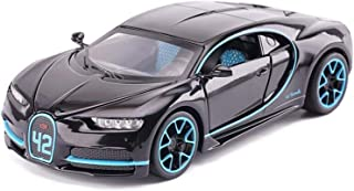 Model Car Bugatti Supercar 1,32 Simulation Die Casting Alloy Static Toy Car Model (Color, Black),Red (Color : Black, Size...