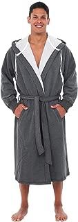 Alexander Del Rossa Mens Warm Sweatshirt Cotton Robe with Hood