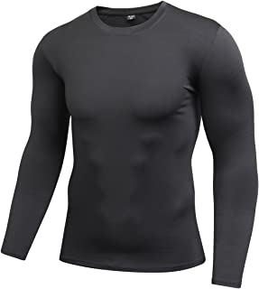 ZDCGT 多機能 スポーツシャツ インナー メンズ 長袖 スポーツインナー 吸汗速乾 UVカット Tシャツ ランニング トレーニング アンダーウェア 丸首 クルーネック ジム