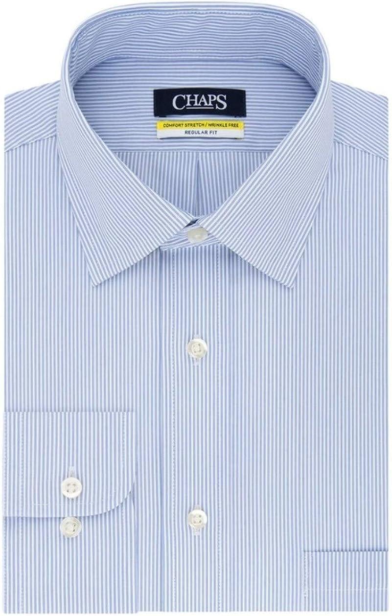 Chaps Men's Regular-Fit Stretch Collar Wrinkle-Free Dress Shirt Purple (17