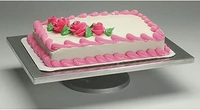 Ateco Rectangular Aluminum Rotating Cake Decorating Stand - 16