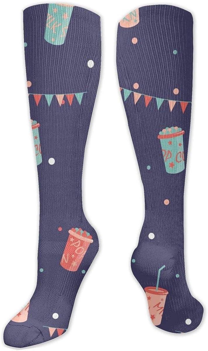 Celebrate Drink Knee High Socks Leg Warmer Dresses Long Boot Stockings For Womens Cosplay Daily Wear