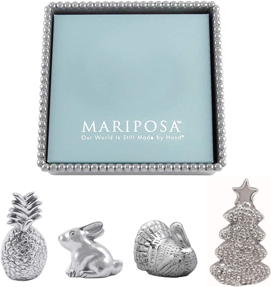 Mariposa Beaded Outlet SALE Napkin Box and Philadelphia Mall Set of 4 Weights - Turkey