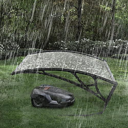 Carport para Robot Cortacésped,Protección contra la Lluvia Toldo Canopy,Seguridad