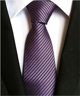 Men's Solid Ties Jacquard Patterned Formal Business Necktie Various Design