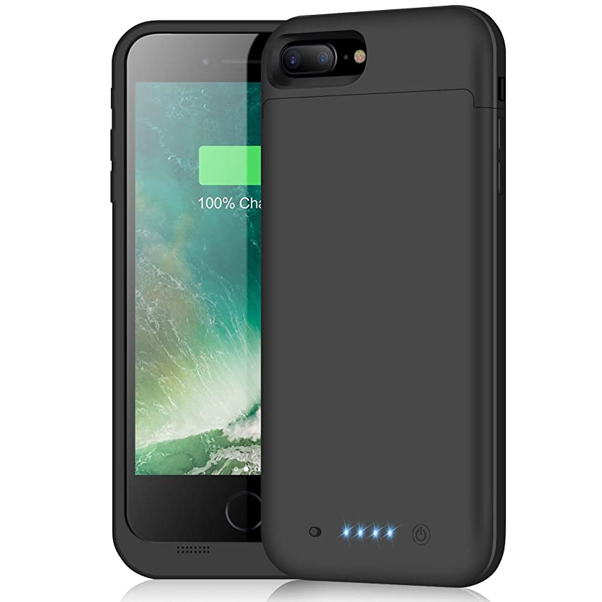 Battery Case for iPhone 8 Plus/7 Plus,7000mAh Portable Charging Case External Protective Charger Power Bank for iPhone 7plus 8plus Black