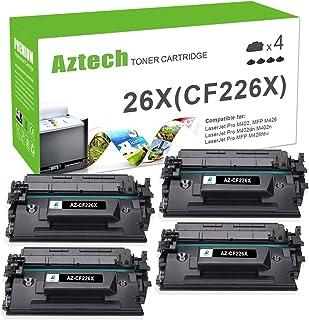 Aztech Compatible Toner Cartridge Replacement for HP 26X CF226X 26A CF226A Laserjet Pro M402n M402dw M402dn Laserjet Pro MFP M426fdw M426fdn M426dw (Black, 4-Pack)