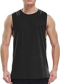 Men's Cut Off Workout Tank Top Muscle Sleeveless Shirt Moisture Wicking
