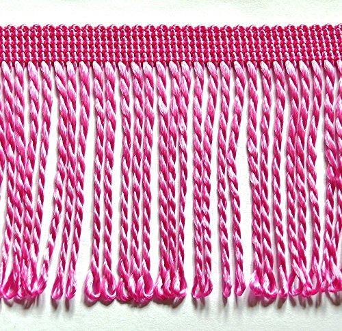 5,0 m Fransen 8 cm breit Farbe Rosa (1,39 €/m) Tanzfransen Borte Fransenborte Posamenten Spitzenborte Shabby Chic Posamentenborte / Dekoborte...