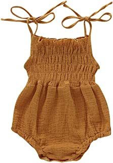 Newborn Toddler Baby Romper Bodysuits Jumpsuit 0-18m Casual Off Shoulder Halter Cute Strap one Piece Bowknot Outfit